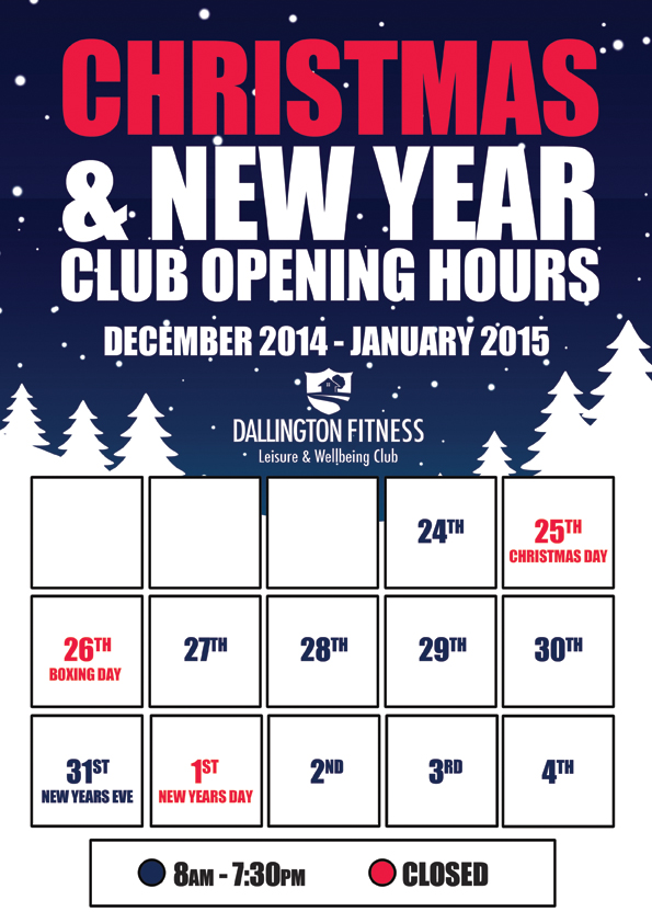 2014 12 02 Christmas New Year Opening Times