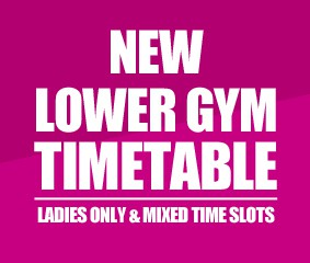 Revised timetable for Lower Gym