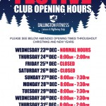 Festive Club Opening Times